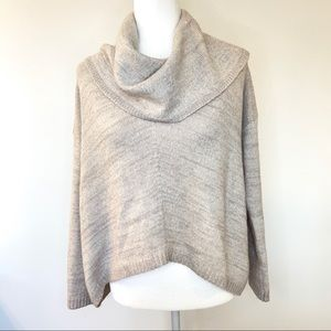 Express Oversized Cowl Neck Sweater Wool Blend